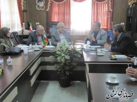 اولين جلسه مسكن مهر شهرستان گميشان در دفتر فرماندار تشكيل گرديد