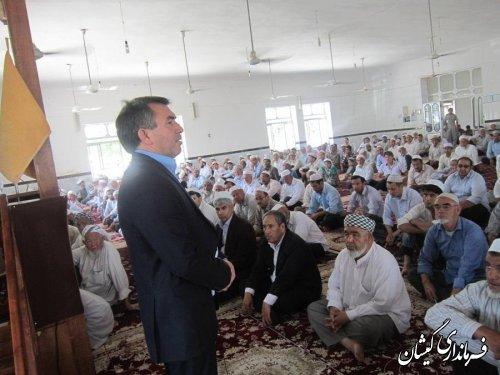 سخنرانی فرماندار گمیشان در نماز جمعه سیمین شهر به مناسبت هفته جهانی مبارزه با مواد مخدر