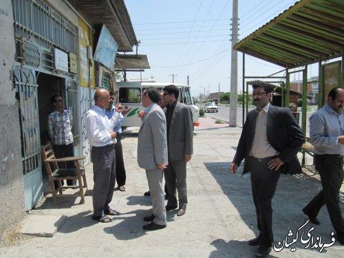 دیدار مدیر کل حمل و نقل و پایانه های استان با فرماندار