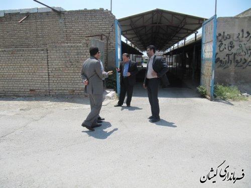 بازدید فرماندار از پروژه 60 غرفه ای بازار ماهی