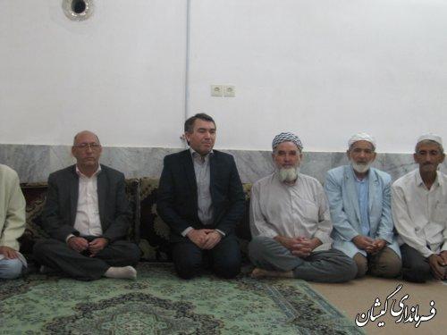 فرماندارگمیشان درادامه دیدارهای مردمی از روستای قرنجیک خواجه خان