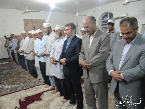 دیدار فرماندارگمیشان با مردم قلعه کریم ایشان در ماه مبارک رمضان