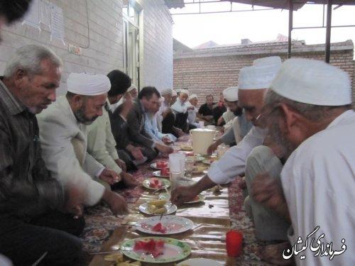 فرماندارگمیشان درادامه دیدارهای مردمی در ماه مبارک رمضان دیدار با مردم آرخ بزرگ