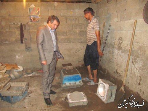 بازدید فرماندار ازکارگاه تولیدی دیگ چدنی آرخ بزرگ