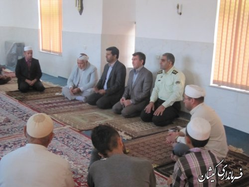 دیدار فرماندارگمیشان با مردم آلتین تخماق در ماه مبارک رمضان