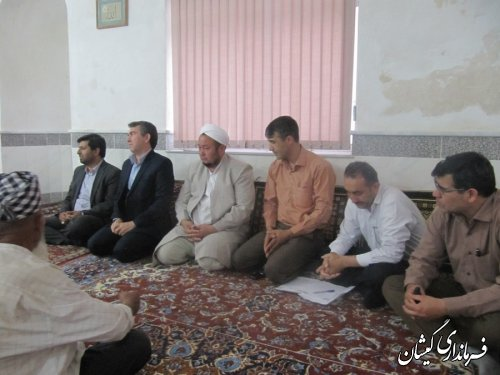 فرماندارگمیشان درادامه دیدارهای مردمی در ماه مبارک رمضان با مردم قلعه  جیق بزرگ