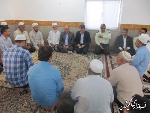 فرماندارگمیشان درادامه دیدارهای مردمی در ماه مبارک رمضان با مردم مراد بردی
