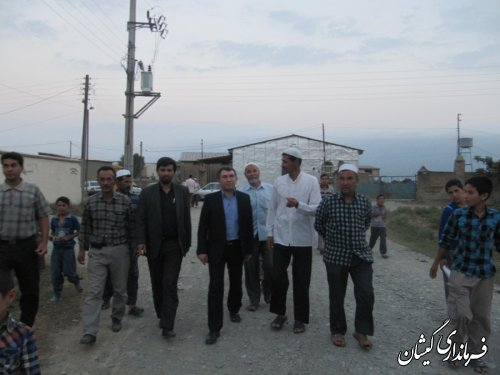 فرماندارگمیشان درادامه دیدارهای مردمی در ماه مبارک رمضان با مردم قره کیله