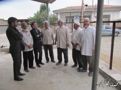 فرماندارگمیشان درادامه دیدارهای مردمی در ماه مبارک رمضان با مردم توماجلر
