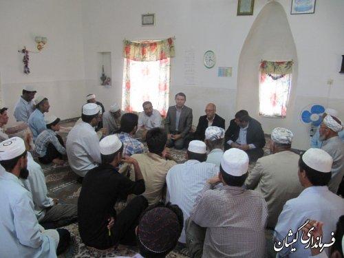 فرماندارگمیشان درادامه دیدارهای مردمی در ماه مبارک رمضان با مردم توماجلرسقرتپه