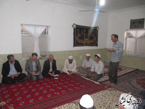 فرماندارگمیشان درادامه دیدارهای مردمی در ماه مبارک رمضان با مردم سقرتپه