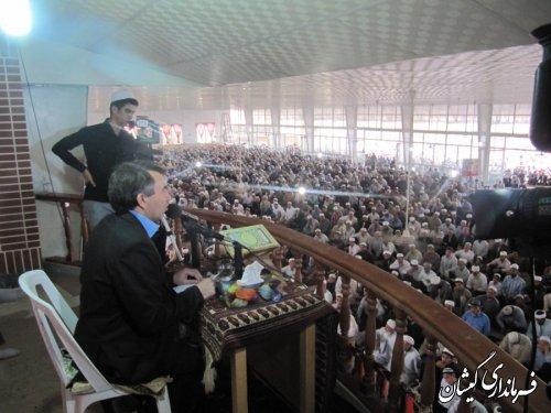 حضورفرماندار شهرستان گمیشان درنماز عید فطر