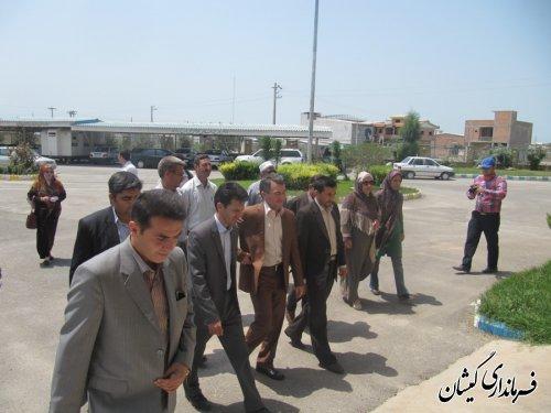 بازدید فرماندار از کارگاههای مهارت آموزی مرکز آموزش فنی حرفه ای شهرستان ترکمن وگمیشان