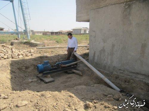 بازدید فرماندار از وضعیت تامین آب شرب روستاهای مرزی شهرستان گمیشان