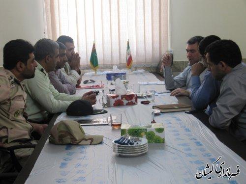 فرماندارگمیشان به همراه اعضای شورای تامین شهرستان از پاسگاه های مرزی بازدید کرد