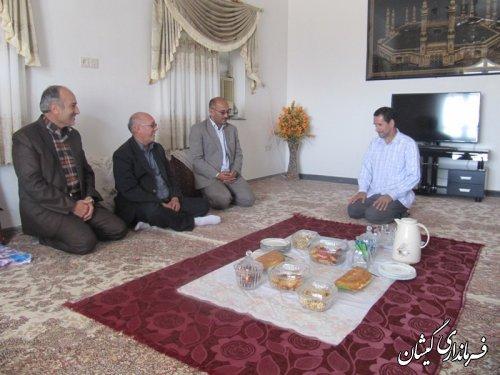 ديدار معاون فرماندار گمیشان با آزادگان شهرستان به مناسبت روز بازگشت آزادگان به ميهن اسلامي