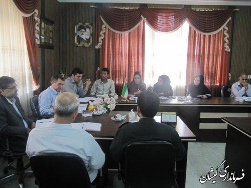 دومین جلسه انجمن کتابخانه های عمومی وکمیته دائمی مطالعه مفید شهرستان گمیشان
