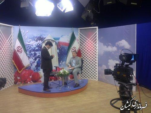 فرماندارگمیشان میهمان برنامه خبری صدا وسیمای استان