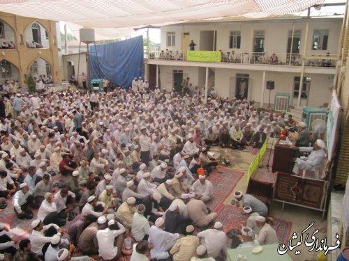 حضور فرماندار گمیشان در مراسم جشن فارغ التحصیلان حوزه علمیه قرنجیک خواجه خان