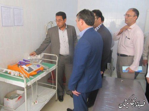 افتتاح 5تخت بستری موقت در شهرستان گمیشان