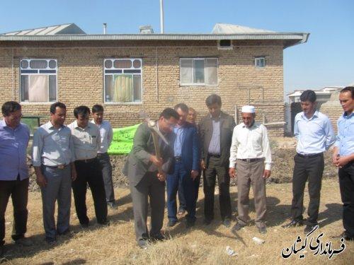 کلنگ زنی خانه بهداشت روستای مرزی قلعه جیق بزرگ گمیشان