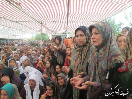 جشن فارغ التحصیلی خواهران حوزه علمیه نور سیمین شهر گمیشان