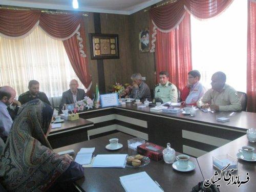 جلسه هماهنگی همایش پیاده روی همگانی شهرستان گمیشان تشکیل شد