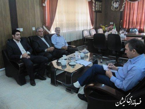 جلسه مدیرعامل شرکت تعاونی شیرمیانکاله سیمین شهرگمیشان بافرماندار