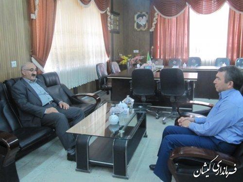 نشست مدیر سرپرستی شعب بانک کشاورزی استان با فرماندار گمیشان