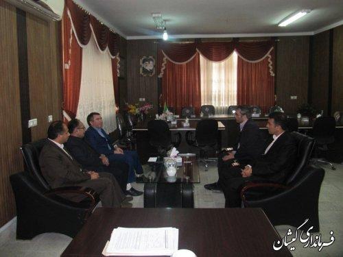 دیدار مدیرکل آموزش فنی وحرفه ای استان با فرماندارگمیشان