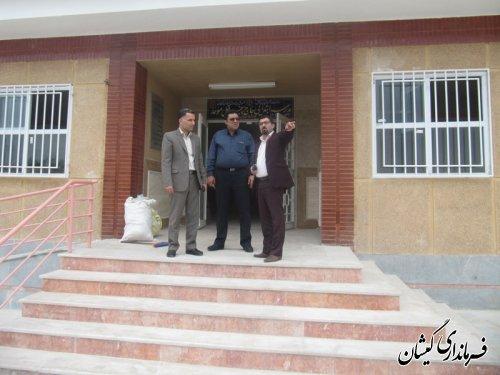 بازدید معاون فرماندار از دبستان موحد روستای کملراز توابع شهرستان گمیشان