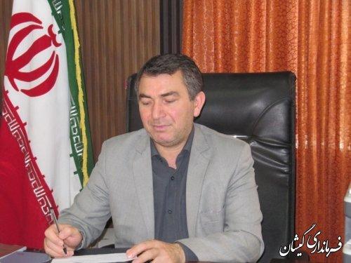 فرماندار گمیشان طی پیامی فرا رسیدن عید سعید قربان را تبریک گفت