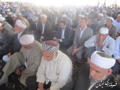 حضور فرماندار گمیشان در نماز عید سعید قربان