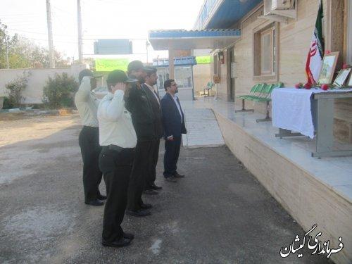 صبحگاه مشترک نیروی انتظامی وسپاه شهرستان گمیشان برگزارشد