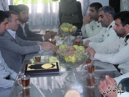 دیدار فرماندار گمیشان با کارکنان فرماندهی انتظامی به مناسبت هفته ناجا