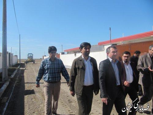 بازدید فرماندار گمیشان از واحد های آماده واگذاری پروژه مسکن مهر گمیشان