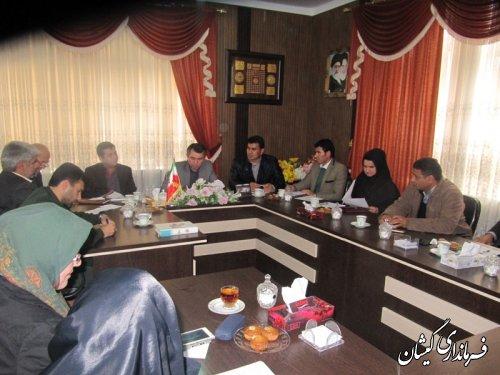 جلسه انجمن کتابخانه وستاد هفته کتاب شهرستان گمیشان تشکیل شد