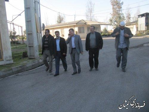 بازدید فرماندار از کارخانه روغنکشی یگانه خزر شهرستان گمیشان