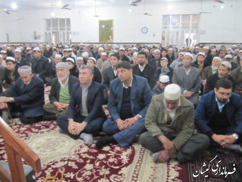 حضور فرماندار گمیشان در نماز سیاسی عبادی جمعه سیمین شهر