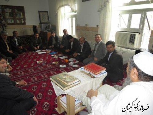 جلسه رسیدگی کمبود آب شرب سیمین شهر با حضور مدیر عامل آبفار استان گلستان