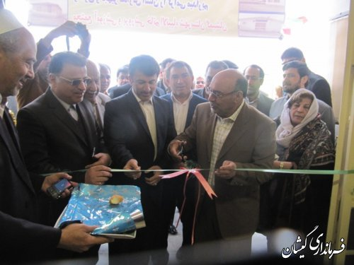 افتتاح مدرسه 6کلاسه روستای کریم ایشان  در شهرستان گمیشان