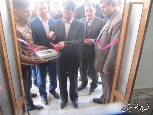 افتتاح یک واحد مسکونی روستایی در روستای سقر تپه شهرستان گمیشان
