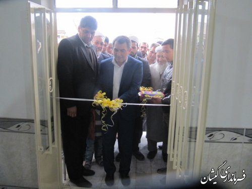 افتتاح ساختمان دهیاری روستای آرخ بزرگ شهرستان گمیشان
