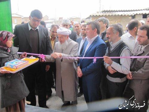 افتتاح وبهره برداری ساختمان دهیاری روستای کوسلی شهرستان گمیشان