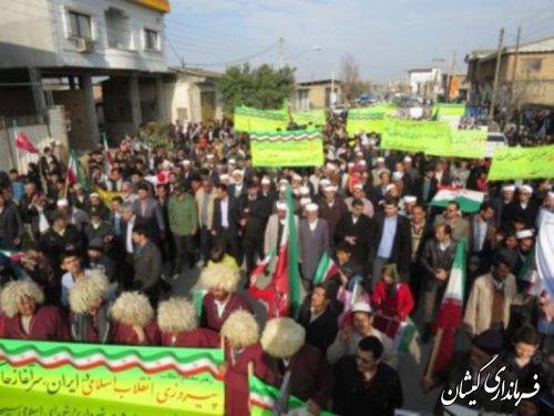 راهپیمایی یوم الله 22بهمن در سیمین شهر برگزار شد