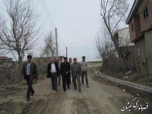 بازدید فرماندار گمیشان از اجرای طرح هادی روستای قره کیله