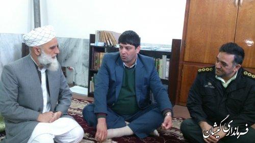 دیدار بخشدار گلدشت با امام جمعه روستای قرنجیک خواجه خان