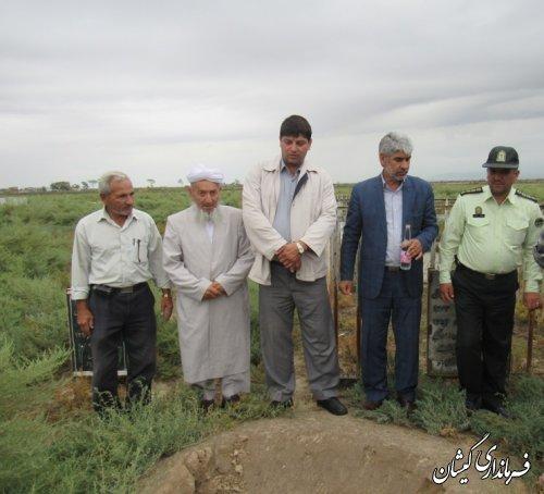 مراسم غبارروبی شهدای روستای آرخ بزرگ بخش گلدشت برگزار شد