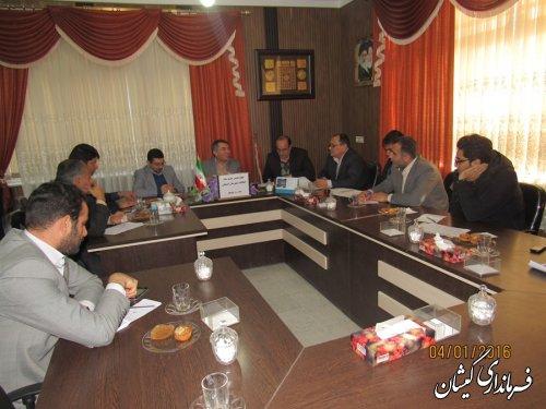 چهاردهمین جلسه ستاد انتخابات شهرستان گمیشان برگزار شد