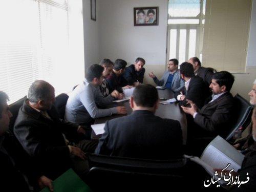 پانزدهمین جلسه ستاد انتخابات شهرستان گمیشان برگزار شد